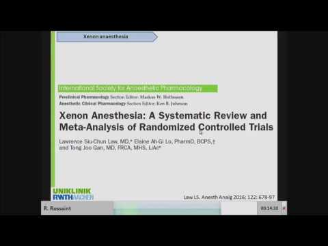 , title : 'R. Rossaint - Xenon anesthesia: what did we learn from the different RCT ́s?