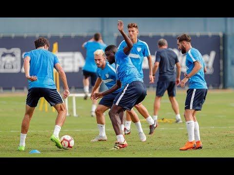 El Málaga entrena tras perder en la Copa con N'Diaye y Haksa de vuelta