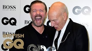 Ricky Gervais' Hilarious Thank You to Girlfriend Jane | Men of the Year Awards 2016 | British GQ