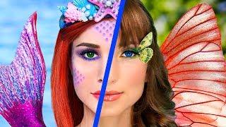Косметика Русалки против косметики Бабочки! Челлендж – 8 идей