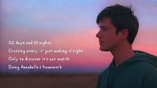 Alec Benjamin   Annabelle's Homework [Official Lyric Video]
