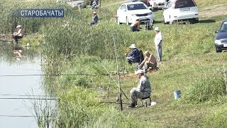 Рыбалка на канале в белово