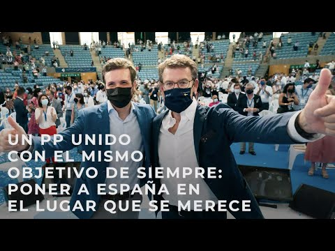 Un PP unido con el mismo objetivo de siempre: poner a España en el lugar que se merece.