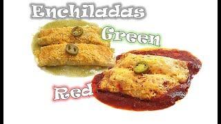 Red and Green Enchilada | Verde Rojo Mexican Enchilada | RinkusRasoi
