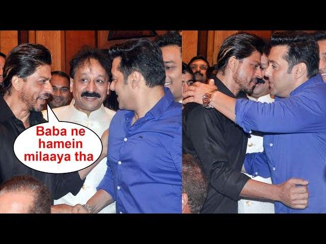 Salman Khan And Shahrukh Khan Hug At Baba Siddique Iftaar Party | THROWBACK | Ramzan