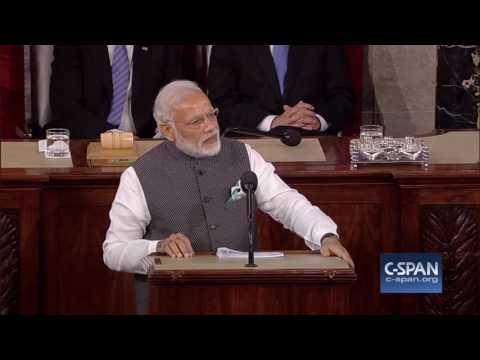 भारत के प्रधानमंत्री नरेंद्र मोदी पतों कांग्रेस के संयुक्त बैठक - पूर्ण भाषण (सी-स्पैन)