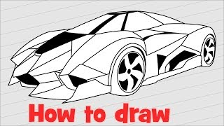 смотреть видео как рисовать ламборджини