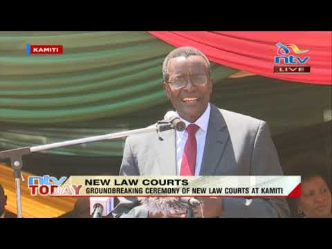 """I thank the President for putting in a word to Treasury for funds released"": CJ Maraga."