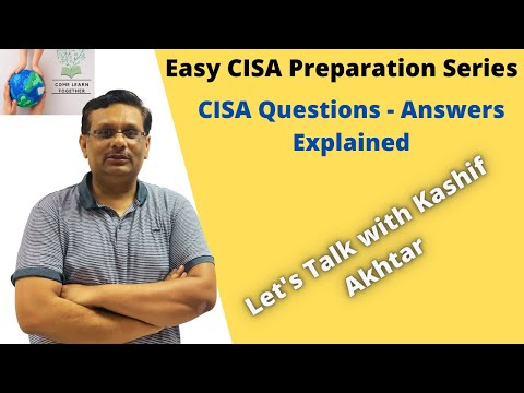 CISA Exam Questions & Answers Explained (#Cybersecurity ...