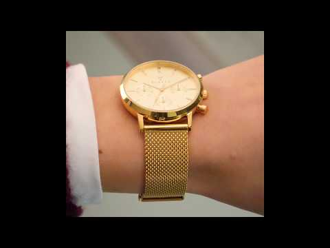 Renard Elite 35.5 Chrono ladies watch gold