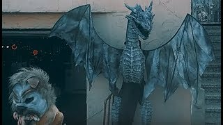 Huge 10 Feet Animated Ice Dragons Sculptures by Igor Kryan. Winter Dragons