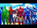 Download Video IRON MAN ARMY Vs SPIDER-MAN, BLUE SPIDERMAN, GREEN SPIDERMAN, ORANGE SPIDERMAN, BLACK SPIDERMAN