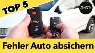 TOP 5 Fehler gegen Autodiebstahl! Auto Diebstahlschutz mit GPS im Test.