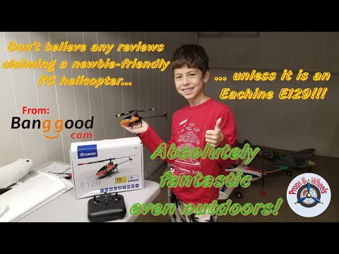 Eachine E129 4CH RC Helicopter with Altitude Hold from Banggood - Part 2: Outdoor Flight