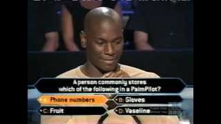 Tyrese Gibson on Who Wants to be a Millionaire Top of the Charts edition (music edition)