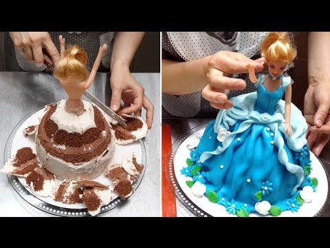 Video Barbie Doll Cake - How To Make by Cakes StepbyStep