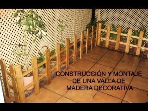 Paso a paso Construcción y Montaje de una valla de madera decorativa para jardín o terraza