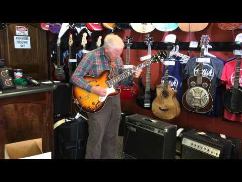 81 year old jazz guitar player stunning the guys in the guitar store.