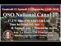 Vendredi 11 Mai 2018 21H00 QSO National du canal 27