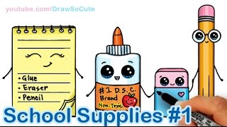 How to Draw School Supplies Cute and Easy #1