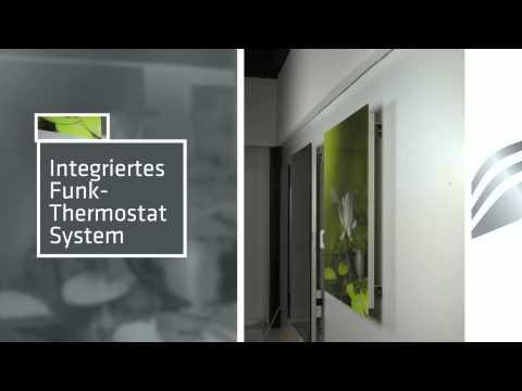 Infrarot- Bildheizungen mit integriertem Thermostat