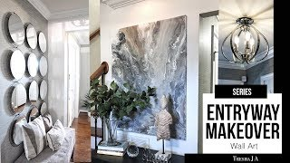 DIY Entryway Makeover - Marble Abstract Wall Art | Episode 5