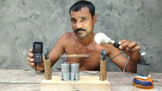 How to make free energy || light bulbs || generoater with magnets & Dc motor|| by tlahan