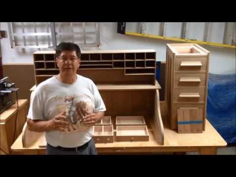 Fuming White Oak - Rolltop Desk