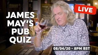 Your lockdown relief is here in the form of James May's pub quiz! The great ball of wisdom that is Mr May will be your quizmaster for the evening, and as you might expect, he hasn't made it easy. #withme  Keep track of your answers in a comment on this article: FoodTribe.com  Post your entries to James May's competition on FoodTribe for a chance to win a personalised video message from him.   You can either head over to FoodTribe.com or download our app.   Get the FoodTribe App:  IOS: https://apple.co/2m1DITg Android: http://bit.ly/2m3gKeq  Follow FoodTribe: https://twitter.com/foodtrb https://facebook.com/foodtribes https://www.instagram.com/foodtrb/