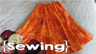How to Sew a Peasant Skirt (Without a Pattern!) ║ Simple Sewing #6