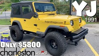 I Found this 1991 YJ Jeep Wrangler for just $5800 CASH!!! ( Tour & Test Drive Review ) 4x4 For Sale!