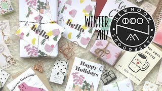 Holiday Cards 'n Things from New Moon Paper Goods- Winter 2017 | Friedia