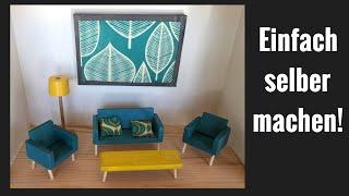 DIY: Puppenhaus Möbel herstellen, modern Puppenhaus Möbel aus Holz