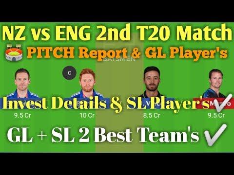 ENG vs NZ 2nd T20 Match Dream 11 Best Team.