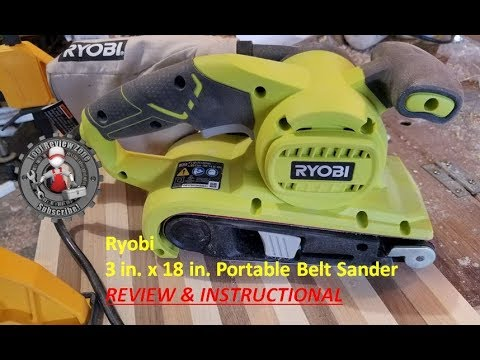 Ryobi Portable Belt Sander review and tutorial