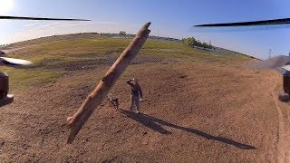 Квадрокоптер против палки. Drone VS Stick Crash