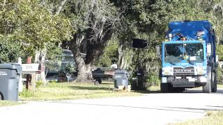 Garbage Truck Can Dumping Polk County FL Republic Services