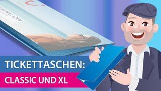 Tickettaschen: Unterschied Classic/XL