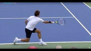 Roger Federer stunning crosscourt pass | Cincinnati 2018