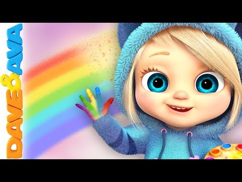 🎨 Learn Colors with Dave and Ava | Nursery Rhymes and Baby Songs 🎨