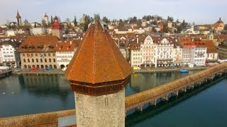 preview picture of video 'Aerials of Kapellbrucke Lucerne Switzerland'