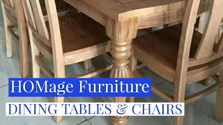 ROYAL DINING TABLES & CHAIRS | HOMEage FURNITURE |