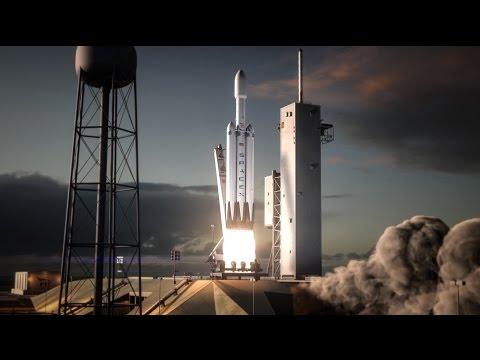 SpaceX Falcon Heavy flight animation