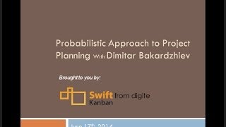 Probabilistic approach for preparing high level project plans. Dimitar Bakardzhiev.