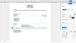 【寫CV的技巧】如何使用Mac Pages 建做 CV template