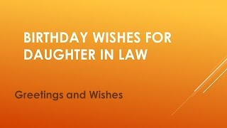Birthday Wishes For Daughter in Law 2020