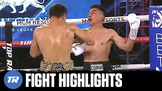 Janibek Alimkhanuly with a KO of the Year Nominee Knockout of Gonzalo Coria | FIGHT HIGHLIGHTS