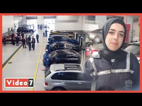 روان بطلة الإسكندرية .. تنافس الرجال فى صيانة السيارات
