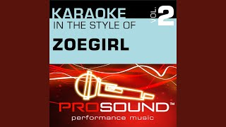 With All Of My Heart (Karaoke With Background Vocals) (In the style of ZOEgirl)