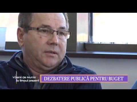 Emisiunea Valenii de Munte la timpul prezent – 29 ianuarie 2016 – partea a II-a – dezbatere publica buget